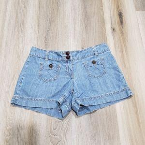 New York and Company shorts denim blue 4